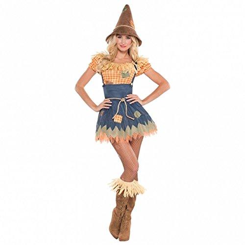 Vogelscheuche Kostüme (Zauberer von Oz-Vogelscheuche- Kostüm für Damen - Grösse)