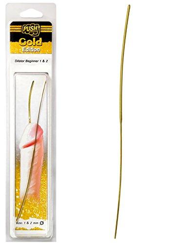 Push Gold Edition - 20cm Edelstahl Dilator Expert 1mm & 2mm breit