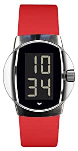 Ventura Men's Sparc RX Digital Watch W 12 R3 with Durinox Case and Caoutchouc Red Strap