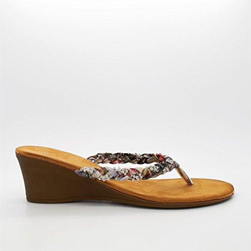 London Footwear , Ouvertes à l'arrière femme Noir - noir