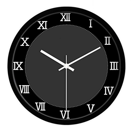 ZLR Mute De Mode Horloge murale de salle de séjour de chambre à coucher Mute Horloge personnalisée ( Couleur : Noir )