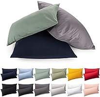 Blumtal 2er Set Kissenbezug - 100% Baumwolle, Superweicher Premium Jersey Kopfkissenbezug …