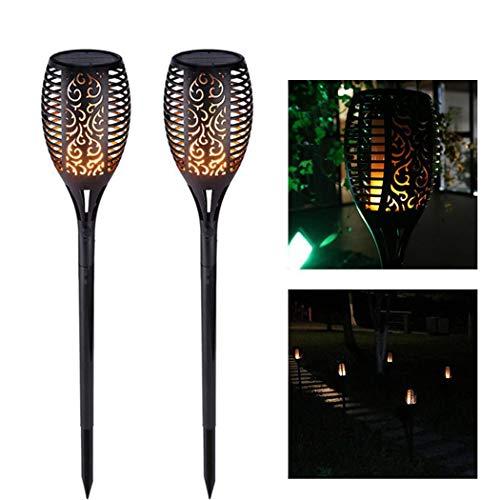 cioler 33 LED Gartenleuchte Outdoor Wasserdicht Flackernde Flamme Solar Rasen Licht Solarleuchten