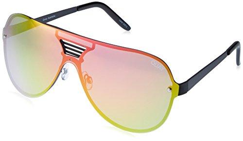 Quay Eyewear Unisex Sonnenbrille SHOWTIME, Gr. One size, Schwarz (BLK/PNK MIRROR)