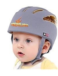 IULONEE Casco de protección para bebé, gorra protectora para cabeza de bebé, gorra de algodón ajustable