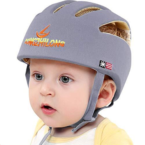 IULONEE Baby Helm Kleinkind Schutzhut Kopfschutz Baumwolle Hut Verstellbarer Schutzhelm Braun