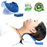 REARAND Neck and shoulder relaxation pillow for Orthopaedic relief Neck and support shoulder Upper Spine loose pain massage traction
