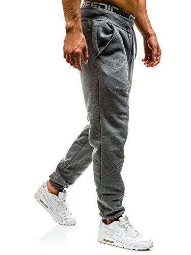 BOLF – Pantalons de sport – Jogging pantalons – Homme Gris