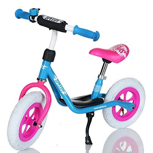 LCP Kids Kinder-Laufrad ab 3.Jahre Luftreifen Sattel Lenker verstellbar; Rosa