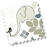 "millemarllle burb coth ""elegant elephant"" I silky soft bamboo terry cloth I antibacterial I oekotex certfied I Elephant"