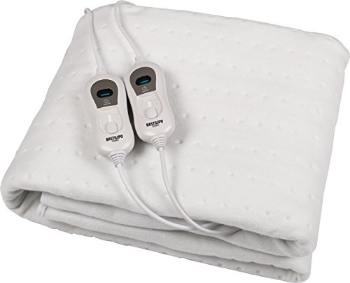 Bastilipo CC-120 - Calienta camas de 2 personas, doble mando individual, 120...