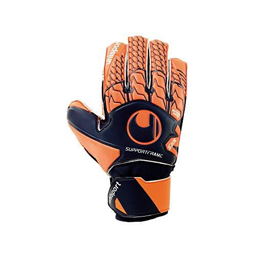 uhlsport Next Level Soft SF JUNIOR Torwart-Handschuhe, Marine/Fluo rot, 6 Junior-handschuhe