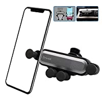 Drivaid Air Vent Car Phone Holder, Gravity Car Phone Mount with 360°Rotation Steering Adjustment for Auto Air Outlet, Universal Vent Car Cradle Compatible for iPhone, Android, Samsung, Huawei etc
