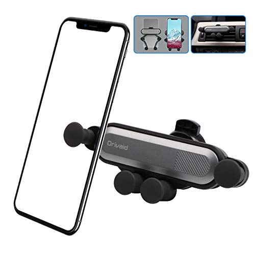 Drivaid Supporto Auto Smartphone, gravità Universale Ventilazione Porta Cellulare Auto con 360 Gradi di Rotazione, Porta Telefono Auto per Telefoni iPhone, Samsung, Huawei, e GPS Dispositiv