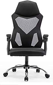 YALLA OFFICE Ergonomic Computer Chair with Ergonomic Mesh, Headrest & Back Support, Adjustable Backrest &a