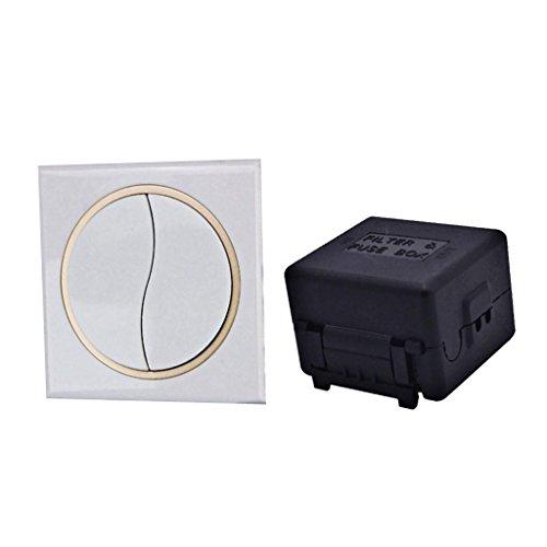 Homyl Relaisfernbedienung Schaltersender Empfänger für Garagentorsteuerung, Rolltore, Fernbedienungs-Türschlösser