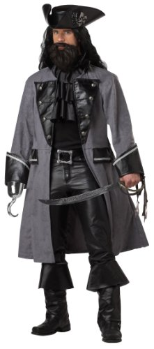 Adult Blackbeard the Pirate Costume - Extra (Plus Kostüm Mens Pirate Size)