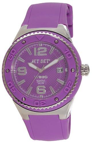 Jet Set J53454-060 - Reloj analógico de cuarzo para mujer, correa de caucho color morado