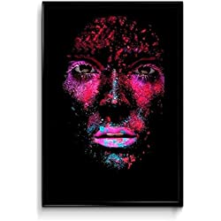 Kumkum Arts Neon Glow Dark Body Sticker Poster 12 x 18 inch HD Quality Material - Gloss paper.
