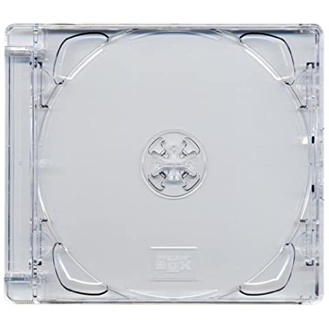 Four Square Media 1 X CD DVD Super Jewel Box 10.4mm Standard Cases for 1 or 2 Disc with Super Clear Tray - Pack of 1