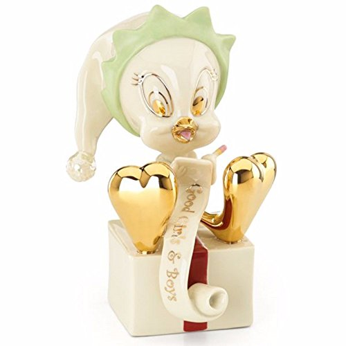 Lenox Tweety Santa 's Helper Elfe Figur Vogel Weihnachten Liste Looney Tunes (S Elfen Santa)