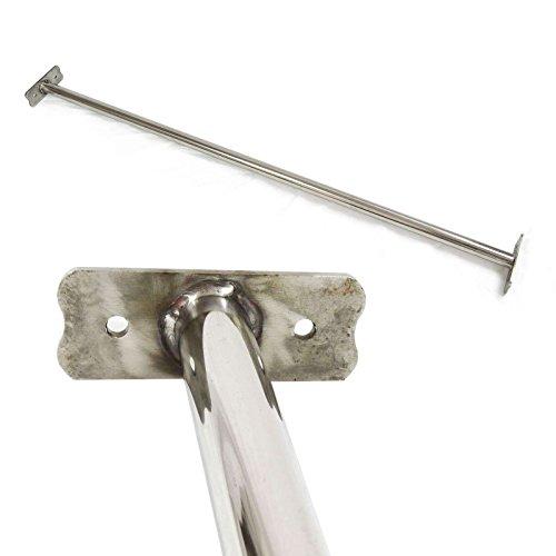 Edelstahl Reckstange 125 cm Turnstange mit Schrauben von Gartenpirat®