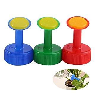 Zerodis 3PCS Sprinkler Gießaufsatz Bewässerung Pflanzen Topfpflanzen für Flaschen Tragbar Kunststoff