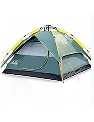 Automatische Outdoor-Zelt 3-4 Personen Campingzubehör Camping-Paket mit doppelter Geschwindigkeit offenen Strandzelt