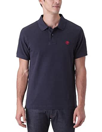 Timberland - Polo - Uni - Manches courtes - Homme - Bleu (Dark Navy) - X-Large (Taille fabricant: XL)