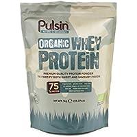 Pulsin Unflavoured Whey Protein Powder 1kg,75% Protein,Gluten Free,Natural,Grass Fed