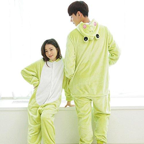 Imagen de kigurumi pijamas unisexo adulto traje disfraz adulto animal pyjamas iflife s para altura 148 158cm , rana  alternativa