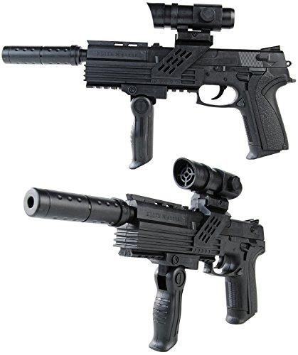 Softair-Gewehr M4013-3 inkl. Schalldämpfer und Visier ABS schwarz 6 mm Federdruck ca. 26 cm unter 0,5 Joule ab 14 Jahre