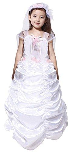 Lukis Kinderkostüm Mädchen Hochzeit Braut Kostüm Halloween Prinzessin Kostüm Fasching L Körpergröße - Kostüm Kostüm Halloween Braut