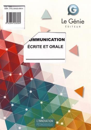 Communication écrite et orale - Elève. Toutes formations.