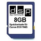 DSP Memory Z-4051557435957 8GB Speicherkarte für Canon EOS 700D