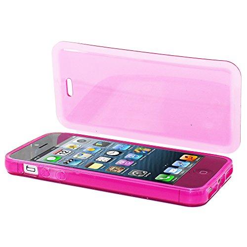 ebestStar - pour Apple iPhone SE 5S 5 - Housse Etui Coque Silicone Gel Portefeuille, Couleur Transparent [Dimensions PRECISES de votre appareil : 123.8 x 58.6 x 7.6 mm, écran 4''] Rose