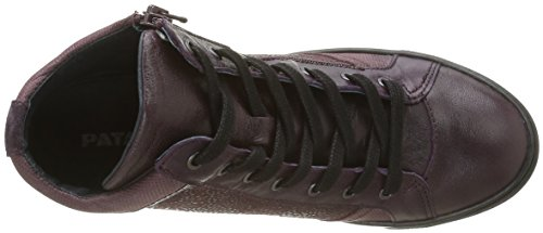 Pataugas Kay F4b, Baskets Hautes Femme Violet (Aubergine)