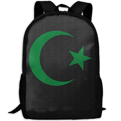 NA Rucksack Star Crescent Islam Symbole Herren Laptop Rucksäcke Schultertasche Schule Daypack