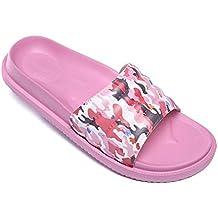 410187c81a8 Pantoufles de Bain Chaussures de Piscine Antidérapant Sandales Plage  Claquettes Plates pour Hommes Femmes