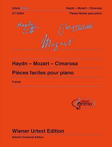 Haydn - Mozart - Cimarosa: Leichte Klavierstücke mit Übetipps - Ausgabe mit französischem und spanischem Kommentar. Band 2. Klavier (Urtextprimo Album)