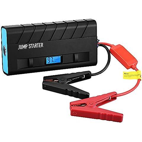 Jump Starter 13600mAh 500A, Topop Arrancador de Emergencia para Coche, Multi-Función y Portátil, Linterna LED, Dual USB Carga, Cargador de Batería para Smartphone y Tablet