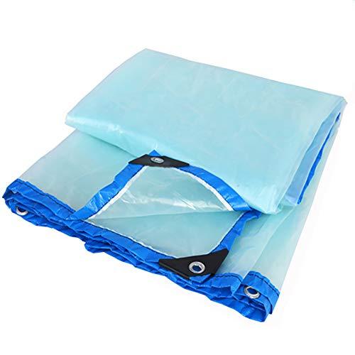 KXBYMX Imperméabilisez la toile imperméable résistante de bâche transparente avec la bâche perforée de toit de tissu de coupe-vent Bâche imperméable de haute qualité (Couleur : A, taille : 4×8m)