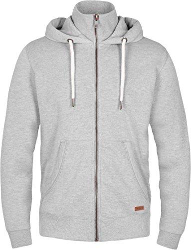 Solid Hoodie Sweatshirt (SOLID Toto Herren Jacke Sweatjacke Sweater Kapuzenjacke Zip Hoodie Zipper Männer Kapuze Baumwolle Einfarbig Reißverschluss, Farbe: (Grau) light grey melange (8242) Größe: L)