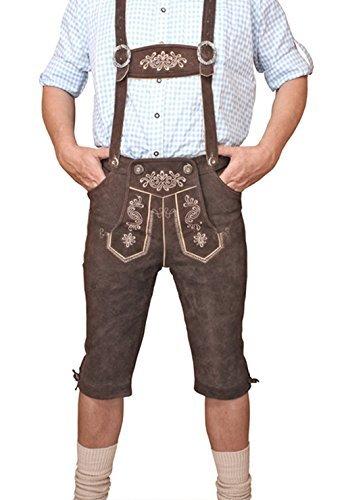 LEDERHOSE Kniebund Braun Trachten leather trousers SMARTPHONE TASCHE KNHC1 Gr 52
