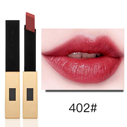 Klassische Matte Lippenstift (CHuangQi Sexy Flüssiger Lippenstift, 12 Farben Langlebiger Flüssiger Lippenstift Pigmentierte Lippenflecken Langlebiger Lipgloss Set Natürliche Nude und Dark Red)