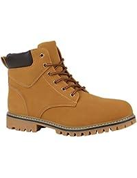 Stiefelparadies Unisex Damen Herren Worker Boots Übergrößen Leicht gefüttert  Flandell 9a2e9829a4