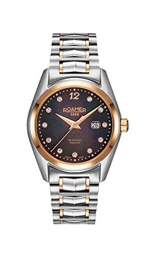 Roamer Reloj de Cuarzo para Mujer con Madre de Pearl Dial analógico Display y Dos Tonos Pulsera de Acero Inoxidable 203844495920
