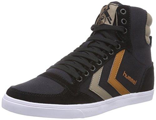 Hummel HUMMEL SL STADIL CANVAS HI, Sneaker alta Unisex - adulto, Nero (Nero (Black 2001)), 44