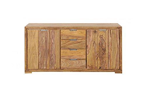 SAM® Sideboard White Mountain aus Sheeshamholz, mit zwei Türen und vier Schubladen, lebendige Holzmaserung, 176 cm breit