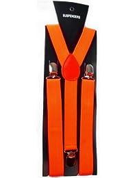 Y-BOA Bretelle Elastique Unisexe Taille 100* L.2.5CM Adultes Solide Pantalon Jeans Couleurs Vives